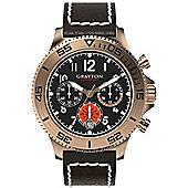 Grayton Comet.Jet Mens Leather Chronograph Date Watch GR-0014-004.2