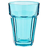 Tesco Single Soda Glass, Blue Topaz