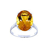 QP Jewellers 6.0ct Citrine Valiant Ring in 14K White Gold