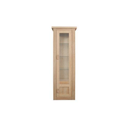 Caxton Countryman Tall Single Door Display Cabinet in Chestnut