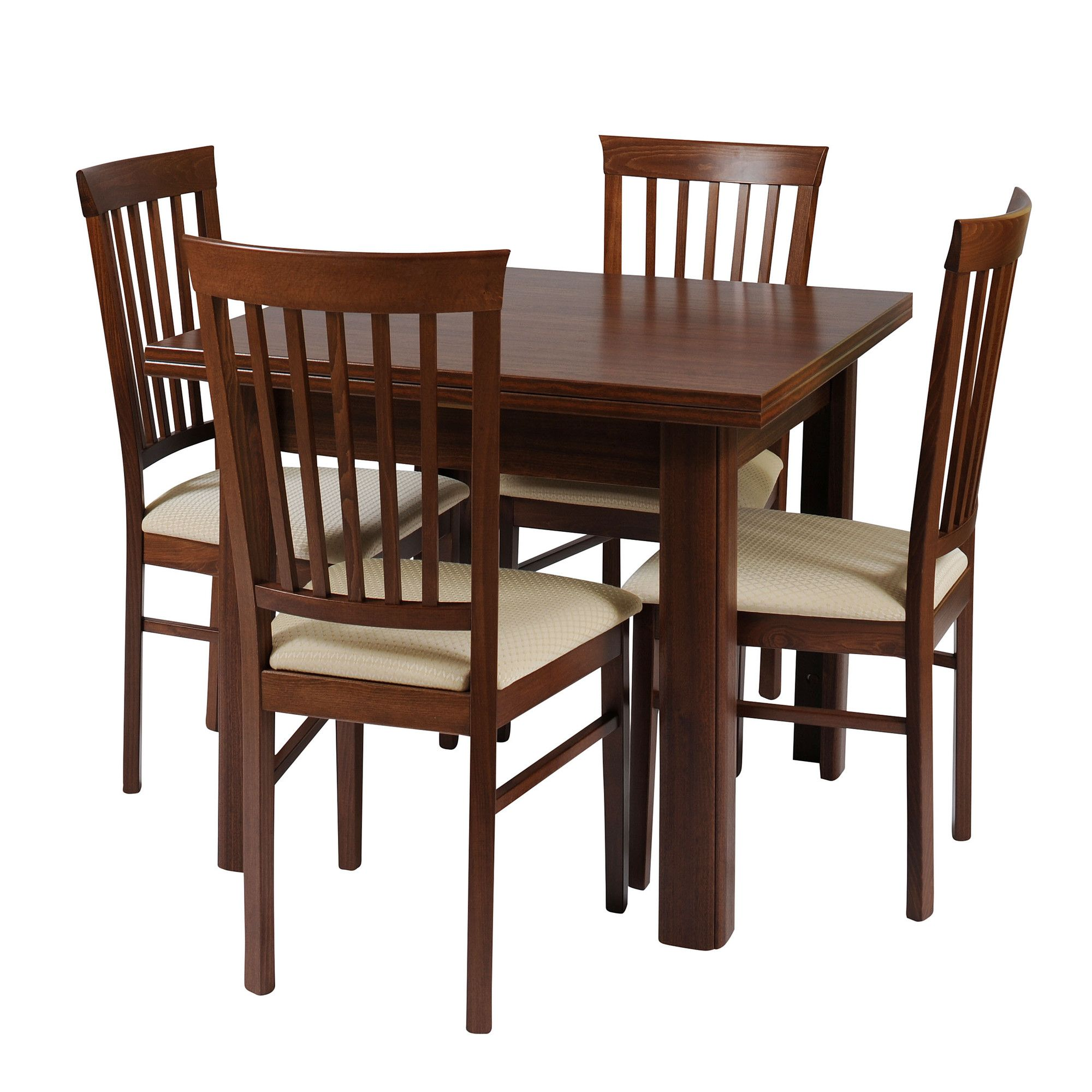 Caxton Byron Extending Dining Set with Slatted Back Chairs in Mahogany at Tesco Direct