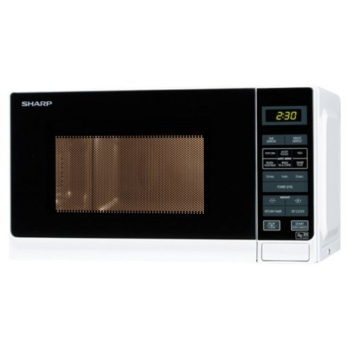 Sharp R272WM Compact 20L Solo Microwave, White
