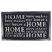 Home Script Barrier Door Mat, 40 x 60cm