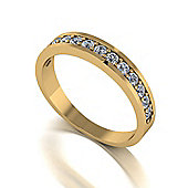 18ct Gold 13 Stone Moissanite Eternity Ring