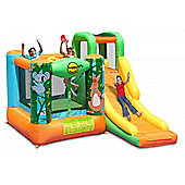 Jungle Adventure Kids 10ft Bouncy Castle with Slide