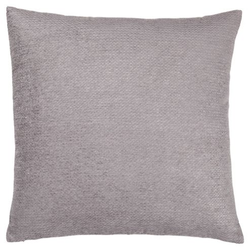 buy texture chenille cushion large grey from our cushions. Black Bedroom Furniture Sets. Home Design Ideas