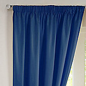 Rectella Sunset Blue Thermal Backed Pencil Pleat Faux Silk Curtains -117x183cm
