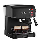 VonShef 15 Bar Pump Espresso Coffee Maker Machine - Create Espressos, Lattes & Cappuccinos