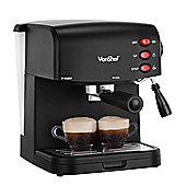 VonShef 15 Bar Pump Espresso Coffee Maker Machine - Create Espressos, Lattes & Cappuccinos