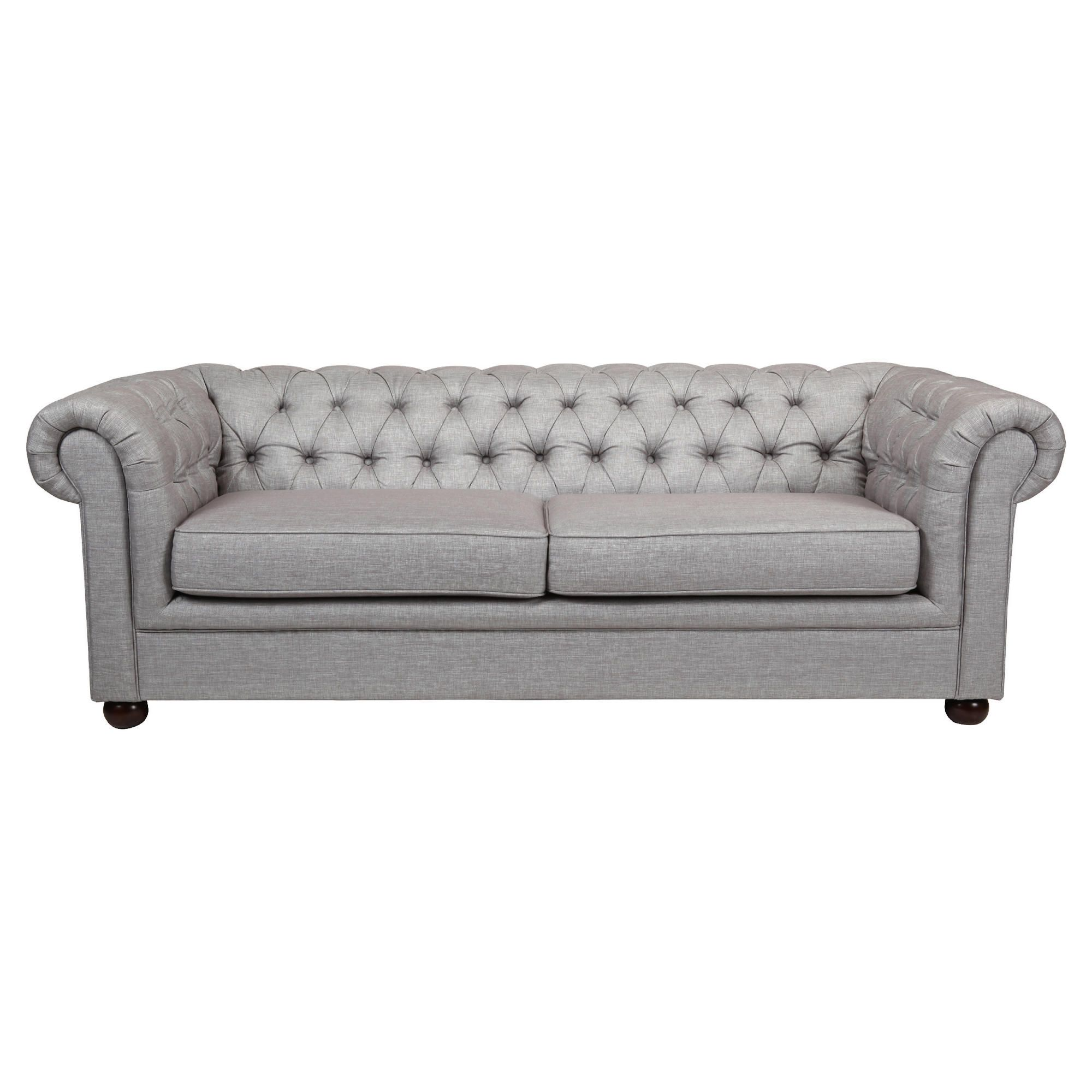 Chesterfield Fabric Sofabed, Silver Linen at Tesco Direct