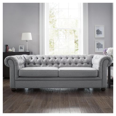 Fabric Sofa Bed Silver Linen From Our Sofa Beds Range Tesco