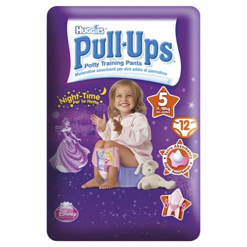 Huggies Pull Ups Size 5 Girl Night Time 12