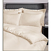 Catherine Lansfield Home Platinum Cream Housewife Pillowcases Satin Stripe 300 Thread Count Premium