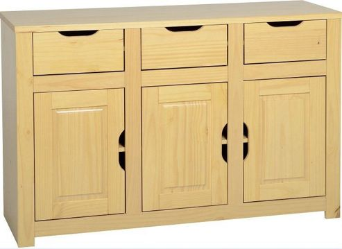 Home Essence Eclipse 3 Door Sideboard - Oak
