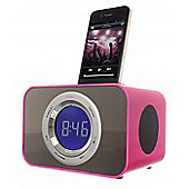 iPod Clock Radio Dock- Punk Pink