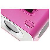 Kitsound iPod Clock Radio Dock Punk Pink