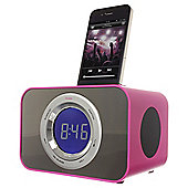 Kitsound iPod Clock Radio Dock Punk Pink