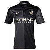 2013-14 Man City Away Nike Football Shirt - Black