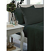 Catherine Lansfield Black Flat Sheet - Double