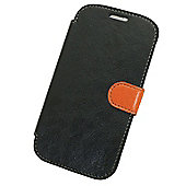 Tortoise™ Look Faux Leather Folio Case Samsung Galaxy SIII Black.