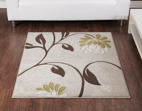 Ultimate Rug Co Rapello Orchid Beige / Green Contemporary Rug - 120cm x 165cm