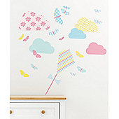 Mothercare Baby Nursery Butterfly Fields Large Wall Stickers