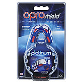 Opro Mouthguard Platinum - Blue / Red
