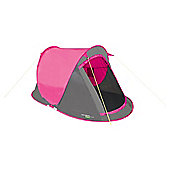 Yellowstone 2 Man Camping Fast Pitch Tent 2 Season Pink