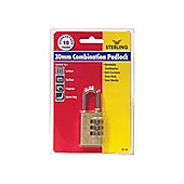Sterling Cpl130 3 Dial Combination Padlock 30Mm
