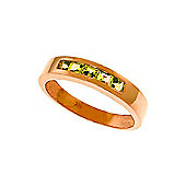 QP Jewellers 0.60ct Peridot Princess Prestige Ring in 14K Rose Gold