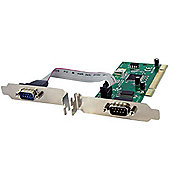 2 Port PCI RS232 Serial Adapter Card w/ 16950 UART - Dual Voltage / Dual Profile Serial Card - Serial adapter - PCI-X low profile - RS-232 - 2 ports