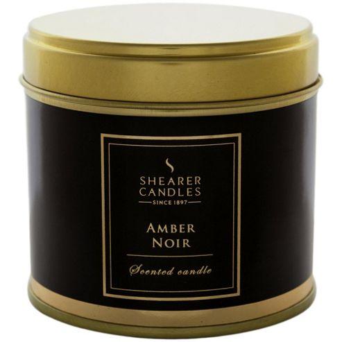 Shearer Candle Tin Amber Noir