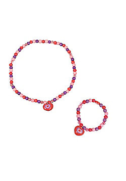 Tatiri Heart Bracelet and Necklace (Red Bead)