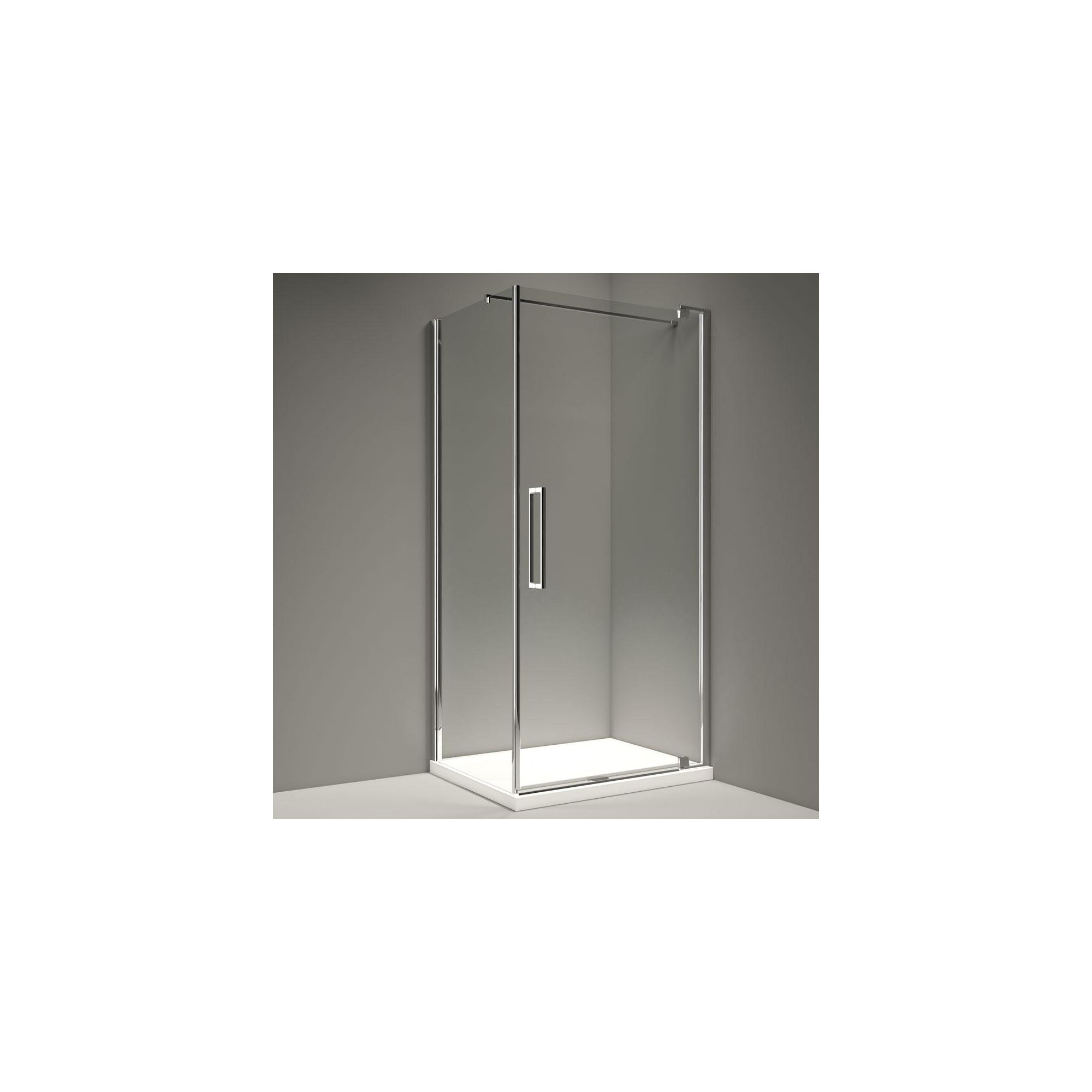 Merlyn Series 10 Pivot Shower Door, 800mm Wide, 10mm Smoked Glass at Tesco Direct