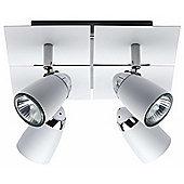 Brilliant Lanos Four Light Ceiling Spotlight in White