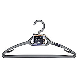 Pack of 6 Plastic Silver Hangers