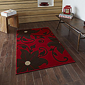Oriental Carpets & Rugs Modena Red/Brown Budget Rug - 115 cm x 170 cm (3 ft 9 in x 5 ft 7 in)