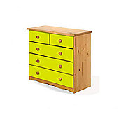 Verona Verona 2 Over 3 Drawer Chest - Lime