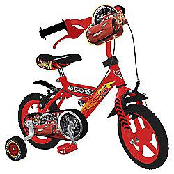 "Disney Cars 12"" Kids' Bike with Stabilisers"