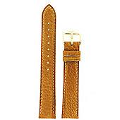 Hirsch Camelgrain Mens Honey Brown Leather Watch Strap 01009010-1-18