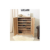 Baumhaus Mobel Large Shoe Cupboard in Oak