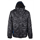 Avalanche Mens Waterproof Breathable Hooded Snowboarding Skiing Ski Jacket - Grey