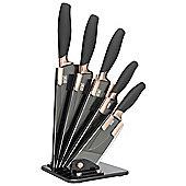Taylor's Eye Witness Fan Brooklyn Copper 5 Piece Knife Block Set LMS23CBKB8