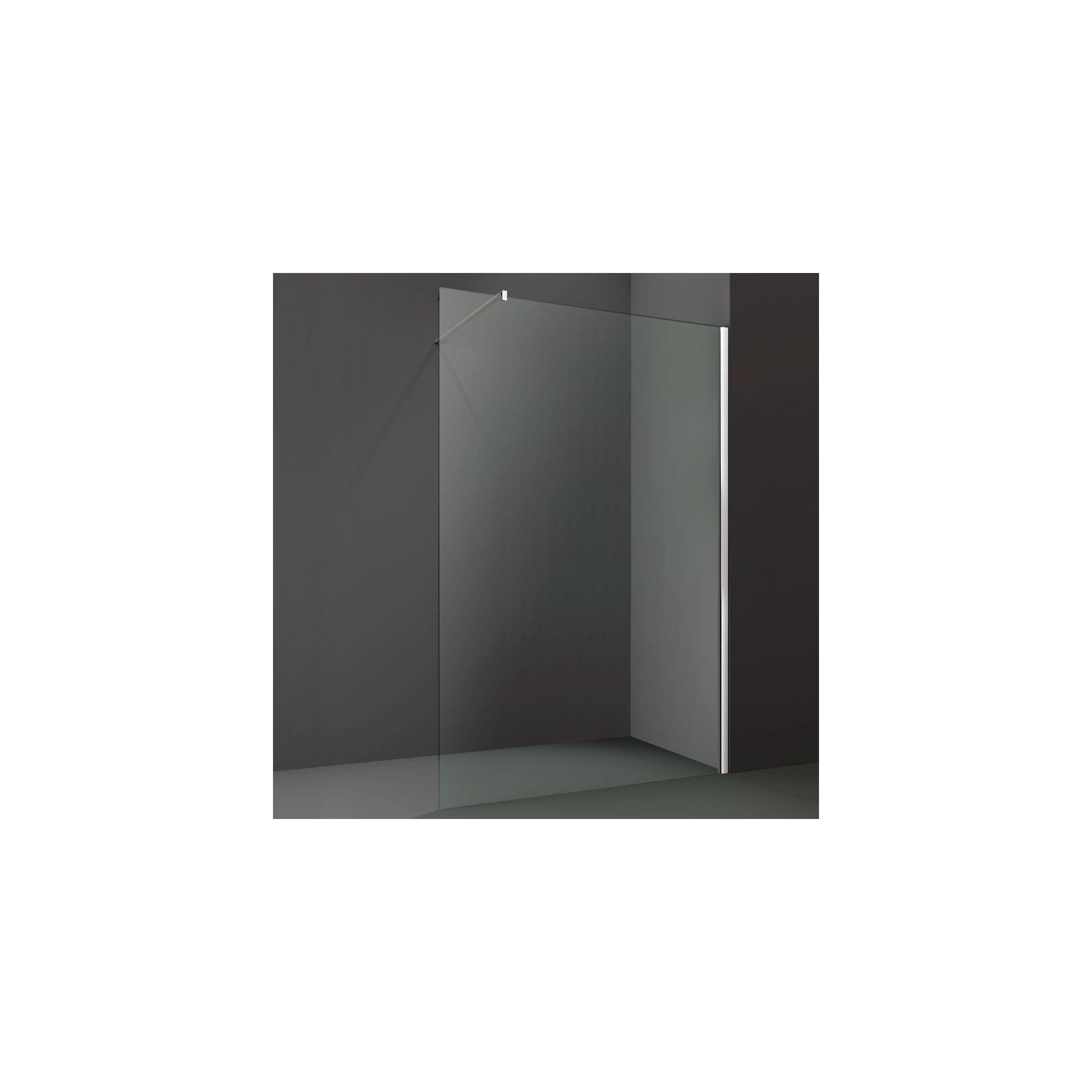 Merlyn Series 8 Wet Room Glass Shower Panel, 1200mm Wide, 8mm Glass at Tescos Direct