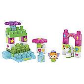 Mega Bloks First Builders Lil Princess Waterfall Garden