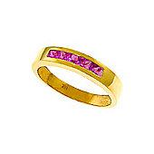 QP Jewellers 0.60ct Sapphire Princess Prestige Ring in 14K Gold