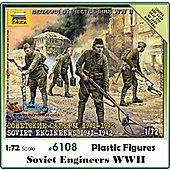 Zvezda - Soviet Engineers 1941-1942 Scale 1/72 6108