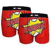 The Big Bang Theory Mens Boxer Shorts 2 Pack - Red