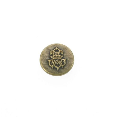 Dill Buttons 20mm Embossed Crest Gold