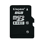 Kingston microSDHC 8GB Class 10 Card